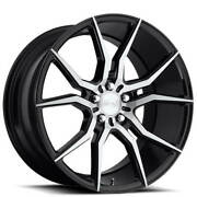 4new 19 Staggered Niche M166 Ascari Black With Brushed Wheels And Tires
