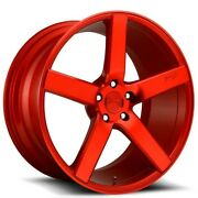 4new 20 Staggered Niche M187 Milan Candy Red Wheels And Tires