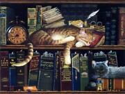 Remington The Well Red Cat Art Print By Charles Wysocki Image Size 12 X 9
