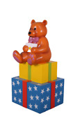 Presents Boxes Stack With Teddy Bear Life Size Statue Christmas Display Prop