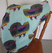 Horse Saddle Cover Green Bird Print And Free Embroidery Aussie Made Protection