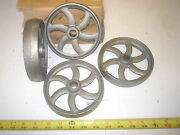 12 Cast Iron Wheel Sm Hit And Miss Gas Engine Maytag Cart Curved Spoke Wheel