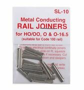 Peco Sl-10 - 6 Packs Of 24 Ea Std 00 Code 100 Rail Track Joiners Tracked 48 Post