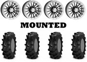 Kit 4 Itp Cryptid Tires 30x10-14 On Itp Sd Dual Beadlock Polished Wheels Irs