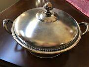 Simpson Hall Miller And Co Quadruple Silver Plate Serving Bowl Soup Tureen Dish