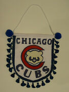 Rare 1940and039s/1950and039s Chicago Cubs Felt Baseball Penant / Banner / Shield - L@@k
