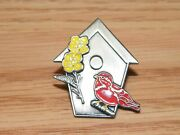 Unbranded Bird House Collectible Costume Fashion Jewelry Brooch / Pin Read