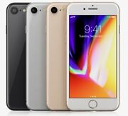 Apple Iphone 8 - 64gb 256gb Gsm For Atandt Only Smartphone Cell Phone All Color