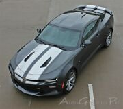 2016 2017 2018 Camaro Ss Rs Rally Vinyl Graphic Hood Decals 3m Racing Stripes