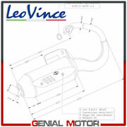 Complete Exhaust System Leovince Sito Peugeot Metal X 50 2003 2006