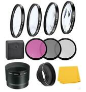 Macro Close-up Filter Kit And Uv-cpl-fld Filters For Canon Powershot G12 G11 G10