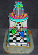 Ron Lee Mandm Green And Blue Dancing 1950and039s Diner 11 Tall Figurine Le Mint