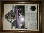 Hollywood Sign Actual Piece 1923-78 Certified Authentic Framed Movie Relic Rare