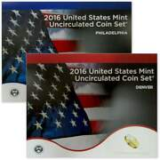 2016 U.s. Mint Set Uncirculated Original Government Packaging Ogp Collectible
