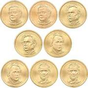 2010 Pandd Presidential Dollar 8 Coin Set Bu Uncirculated Mint State 1