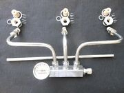Hot Rod Rochester 2g Fuel Line Kit With Gauge Sb Chevy Tri Power