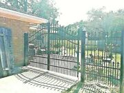 Wrought Iron Style Driveway Gate 12and039 Steel Metal Cast Home Garden Yard Security
