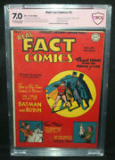 Real Fact Comics 5 - Signed By Bob Kane On 1st Page Cbcs Verified Sig 7.0 - And03946