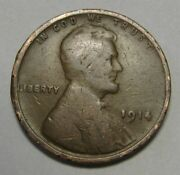 1914 Lincoln Wheat Cent In Lower Grade Priced Right Free Sandh Great Filler Coin