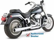 Vance And Hines Chrome Pro-pipe Hs 2 Into 1 Exhaust System Harley 86-2011 Softail