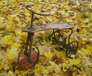 Vintage Bicycle Tricycle Toy Rare 1930 Year Collectorand039s Item Museum Level