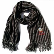Scarf Child/a Striped Black And White Fringed Mickey Mouse Disney - Italy
