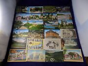 Vintage Lot Of Unused Post Cards 1930and039s 137pc Different States And Topics +extra
