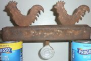 Antique Hoffmann Cast Iron Carnival Shooting Gallery Rooster Target