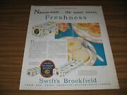 1930 Print Ad Swift's Brookfield Dairy Products Butter,eggs,cheese