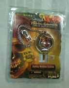 Disney Pirates Of The Caribbean Dead Manand039s Chest Spinning Medallion Keychain New