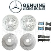 For Mercedes W204 C63 Amg 08-15 Front And Rear Disc Brake Rotors And Pad Kit Genuine