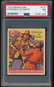 1933 Goudey Indian Chewing Gum R73 177 Struggle To Death Psa 7 Nm