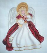 10 Off Mary Tussey Hand-painted Needlepoint Canvas - Angel Tree Topper