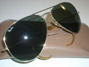 1980's 58[]14mm Vintage Bandl  Z0282 G15 Aviators Sunglasses Made In Usa
