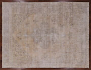 9and039 X 12and039 Vintage White Wash Hand Knotted Rug - Q2088
