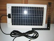 10w Heavy-duty White Stainless Steel Solar Panel - Rv And Sailboat - No Glass