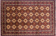 8' 6 X 13' 0 Tribal Hand Knotted Wool Rug - P8741