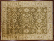 Hand Knotted Wool Oriental Oushak Area Rug 9and039 X 12and039 - Q1453