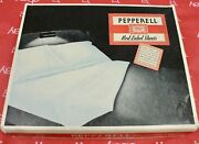 Vintage Pepperell Red Label White Sheets 2 Double Full 81x 99 Nos Orig. Box