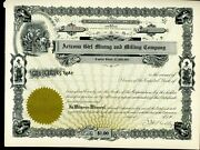 Arizona Girl Mining And Milling Company Antique Stock Certificat Early 1900s