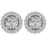 Removable Jacket Studs Earrings Yellow Gold Round Diamond I1 G 2.80 Ct 11.50mm