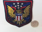 Vtg. Ww Ii Mystery Us Home Front / Sweetheart Military Shield Themed Ef Patch