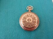 Antique 14k Solid Gold American Waltham Watch Co Pocketwatch 41 Mm Rare
