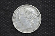 Mauritius 1882h 20 Cents Silver Coin Weight 2.36 G C247