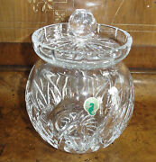 Waterford Crystal Round Biscuit Jar Designed By F. Curtist 2001