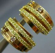 Estate Wide .24ct Fancy Yellow And Pink Diamond 18kt 2 Tone Gold Umbrella Earrings
