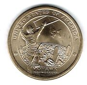2015-d 1 Brilliant Uncirculated Business Strike Native American Dollar Coin