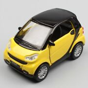 2008 Smart Fortwo 8cm Maisto Diecast Metal Model Car Pull Back Yellow Red Toy