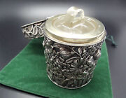 Perfect Scent Jar Bridal Bouquet 1893 Gorham Sterling Glass With Lid Vanity