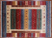 5' 7 X 7' 8 Hand Knotted Gabbeh Tribal Wool Rug - P9880